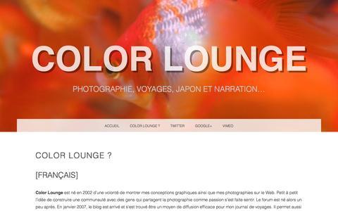 Screenshot of About Page color-lounge.com - Présentation de Color Lounge - Cédric Riveau | Color Lounge - captured Jan. 24, 2017