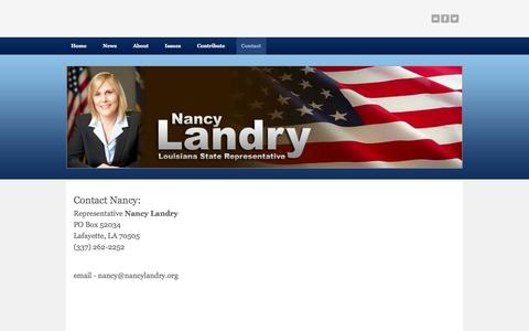 Screenshot of Contact Page weebly.com - Contact - Nancylandry.com - captured Sept. 17, 2014