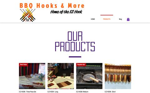 Screenshot of Products Page bbqhooks.com - Products-BBQ Hooks & More - captured Oct. 9, 2017