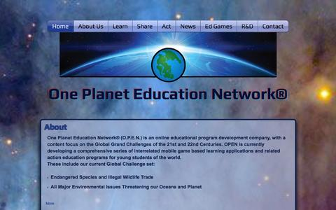 Screenshot of About Page oneplaneteducation.com - oneplaneteducation - captured Oct. 26, 2014