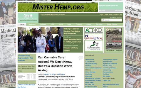 Cannabis Health News Magazine | By Cannabis Patients, For Cannabis Patients.