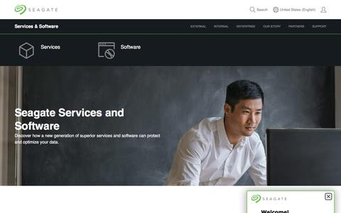 Screenshot of Services Page seagate.com - Services and Software | Seagate US - captured July 18, 2019