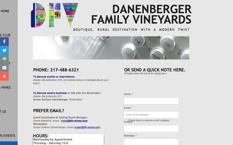 Screenshot of Privacy Page Contact Page danenbergerfamilyvineyards.com - Contact DFV - captured July 31, 2016