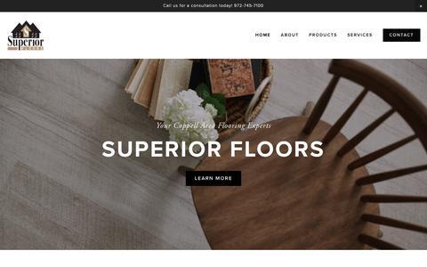 Screenshot of Home Page superior-floors.com - Superior Floors - captured Nov. 7, 2018