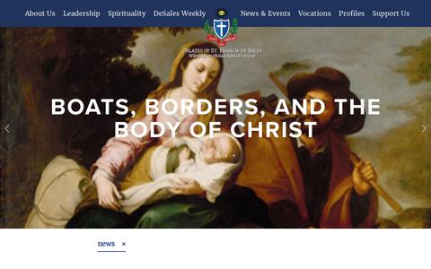 Screenshot of Press Page oblates.org - News & Events Feed — Oblates - captured Nov. 1, 2017