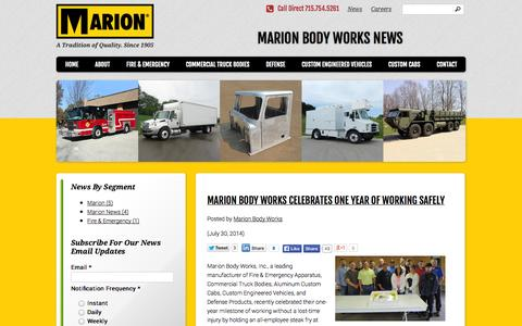 Screenshot of Press Page marionbody.com - News | Marion Body Works - captured Oct. 27, 2014