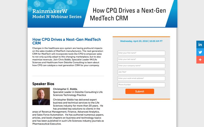 How CPQ Drives a Next-Gen MedTech CRM