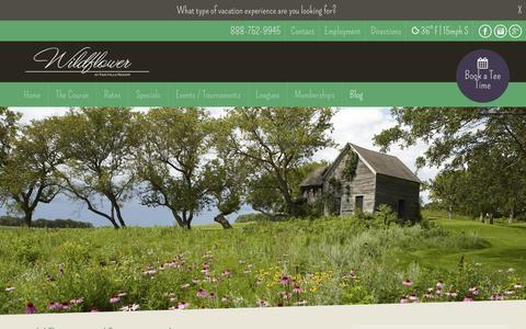 Screenshot of Blog wildflowergolfcourse.com - Blog - Wildflower Golf Course - captured March 5, 2016