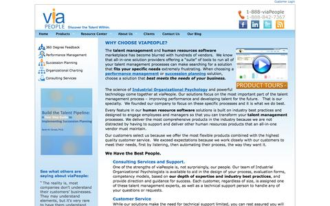 Screenshot of About Page viapeople.com - Performance Management Tools | viaPeople - captured Sept. 19, 2014