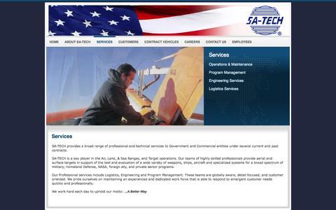 Screenshot of Services Page sa-techinc.com - Services - captured Oct. 3, 2014