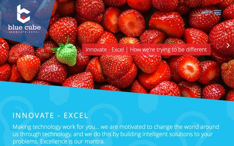Screenshot of Services Page bluecube.co.ug - Blue Cube Ltd | Innovate - Excel - captured Oct. 6, 2018