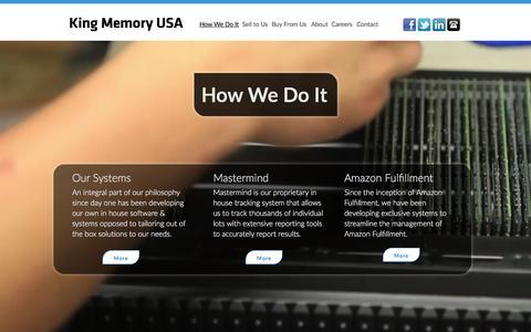Screenshot of Team Page kingmemoryusa.com - King Memory - How We Do It - captured Feb. 15, 2016