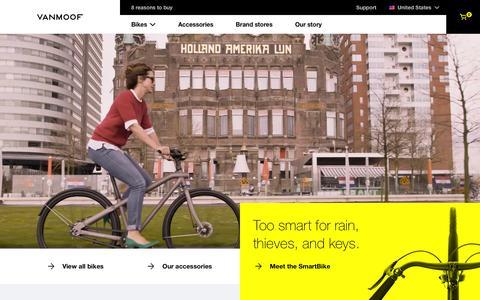 Screenshot of Home Page vanmoof.com - Home  - VanMoof - captured Aug. 12, 2016