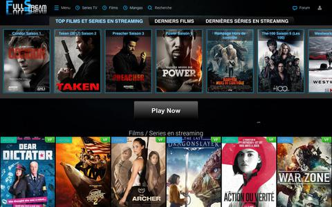 Screenshot of Home Page full-vf.co - Full Stream - Film streaming, série streaming et mangas sur le site n°1 Full Stream - captured July 7, 2018