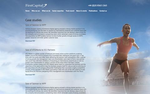 Screenshot of Case Studies Page firstcapital.co.uk - Case studies - captured Sept. 30, 2014