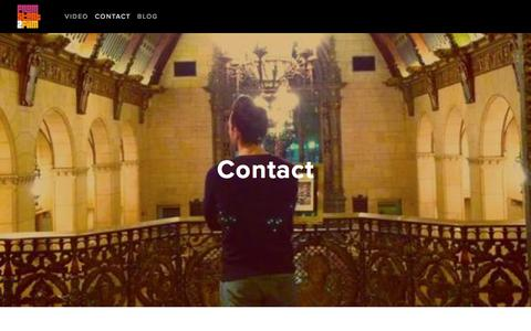 Screenshot of Contact Page fromstarttofilm.com - Contact — From Start to Film - captured Oct. 14, 2017