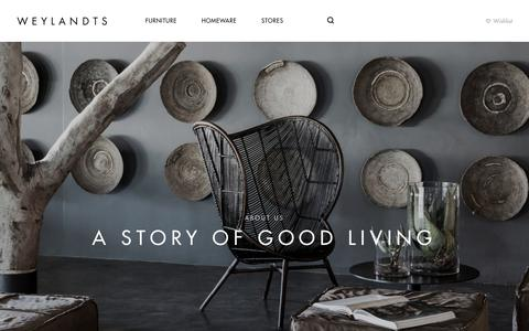 Screenshot of About Page weylandts.co.za - A STORY OF GOOD LIVING | Weylandts South Africa - captured Jan. 21, 2018