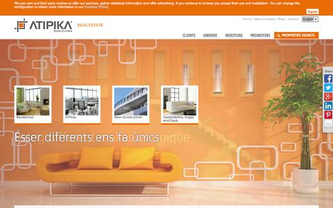 Screenshot of Home Page atipika.eu - Home | Atipika - captured Oct. 4, 2014