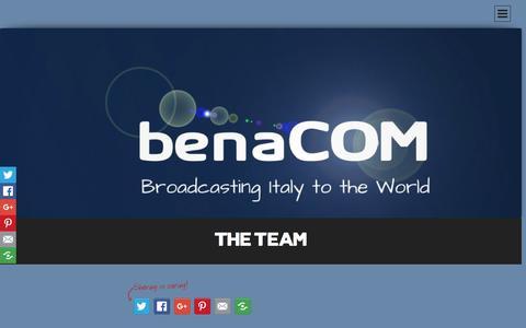 Screenshot of Team Page benacom.it - THE TEAM | - captured Jan. 7, 2016