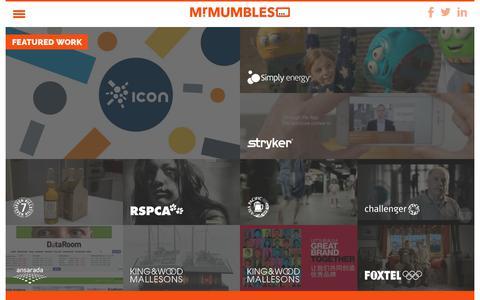 Screenshot of Case Studies Page mrmumbles.com - Mumbles - captured June 13, 2017