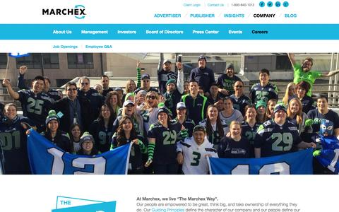 Screenshot of Jobs Page marchex.com - Marchex Careers : Marchex - captured Oct. 2, 2015