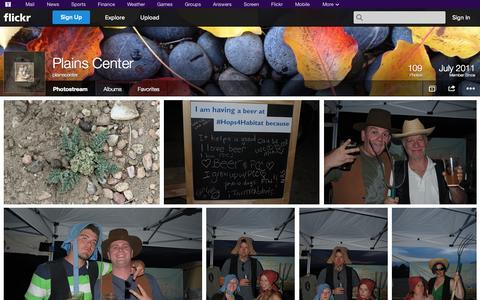 Screenshot of Flickr Page flickr.com - Flickr: plainscenter's Photostream - captured Oct. 23, 2014