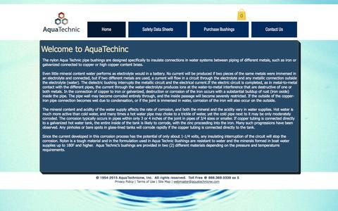 Screenshot of Home Page aquatechnicnw.com - aquatechnic - captured Dec. 26, 2015