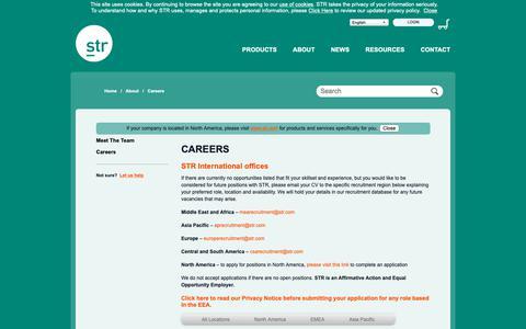 Screenshot of Jobs Page strglobal.com - STR Global - captured Oct. 21, 2018