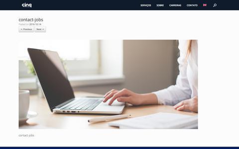 Screenshot of Jobs Page cinq.com.br - contact-jobs | CINQ Technologies LTDA - captured Sept. 23, 2017