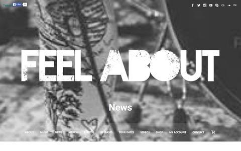 Screenshot of Press Page feelabout.com - News - FeelAbout - captured Jan. 8, 2016