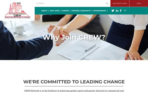 Screenshot of Signup Page crewcleveland.org - CREW Cleveland - Why Join? - captured July 2, 2018