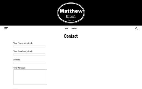 Screenshot of Contact Page matthewelton.com - Contact - Matthew Elton - captured Oct. 17, 2018