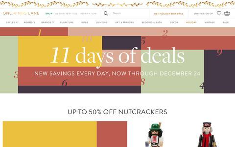 Screenshot of onekingslane.com - 11 Days of Deals | One Kings Lane - captured Dec. 15, 2017
