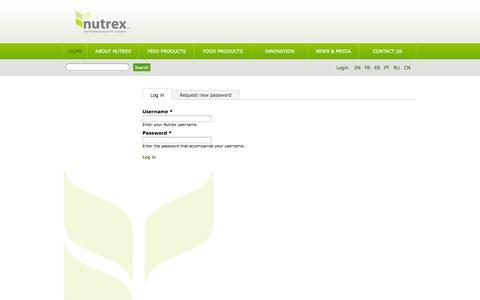 Screenshot of Login Page nutrex.be - User account | Nutrex - captured Sept. 30, 2014
