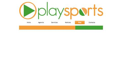 Screenshot of Blog playsports.es - Página Nueva - captured Oct. 3, 2014