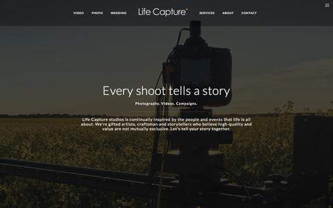 Screenshot of Services Page lifecapture.ca - Services – Life Capture - captured Aug. 6, 2017