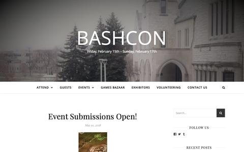 Screenshot of Home Page ut-bash.com - BASHCon – Friday, February 15th – Sunday, February 17th - captured Oct. 26, 2018