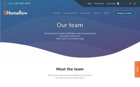 Screenshot of Team Page homeflow.co.uk - Staff | Homeflow - captured July 22, 2018