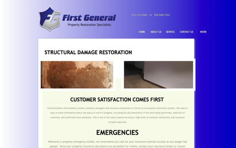Screenshot of About Page Privacy Page fgs-pa.com - Structural Property Damage Restoration in Ebensberg PA | First General - captured Feb. 10, 2016