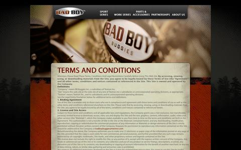 Screenshot of Terms Page badboybuggies.com - Terms & Conditions - captured Feb. 7, 2016