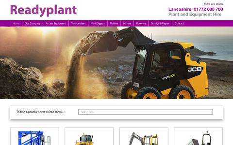 Screenshot of Home Page readyplant.co.uk - ReadyPlant Ltd - Plant & Equipment Hire and Sales - Lancashire - captured June 16, 2017