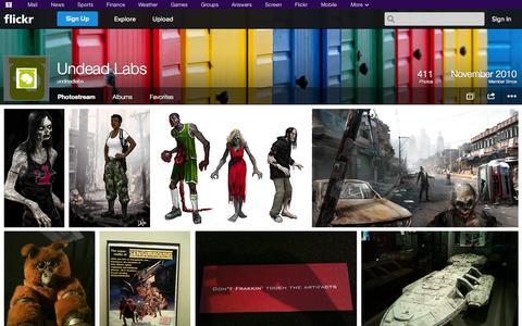 Screenshot of Flickr Page flickr.com - Flickr: undeadlabs' Photostream - captured Oct. 25, 2014