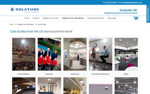 Screenshot of Case Studies Page solatube.co.uk - Case Studies | Solatube UK - captured Jan. 19, 2018