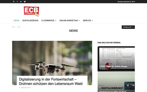 Screenshot of Press Page e-commerce-blog.de - E-Commerce News | ECB - captured Sept. 23, 2018