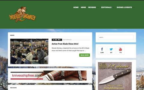 Screenshot of Home Page woodsmonkey.com - Home - captured Oct. 7, 2014