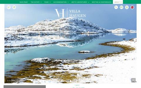 Screenshot of About Page villahaugen.com - ABOUT - captured Oct. 19, 2018