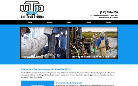 Screenshot of Home Page unitechdrilling.com - Insurance Agency | Versailles, OH - captured Oct. 26, 2017