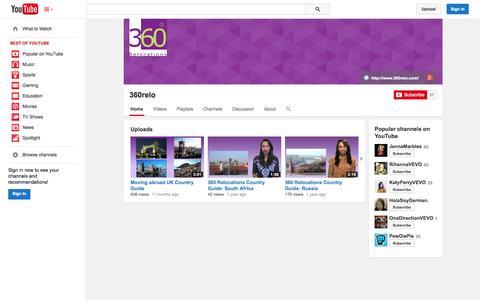 Screenshot of YouTube Page youtube.com - 360relo  - YouTube - captured Nov. 4, 2014