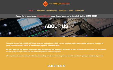 Screenshot of About Page jspmediagroup.com - ABOUT US – JSP Media Group - captured Nov. 6, 2018