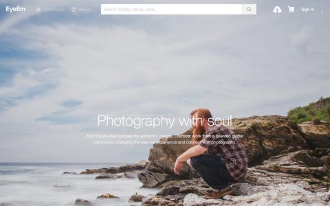 Screenshot of Pricing Page eyeem.com - Licensing   EyeEm - captured March 29, 2016